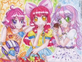 Cutie Mark Crusaders gijinka by FlyingCatsandGlitter