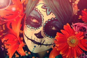 Summer skull by kowaigirl