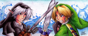 Dark Link vs Link by HyliaBeilschmidt