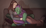 The Green Goblin X Gaby by DeerAzeen