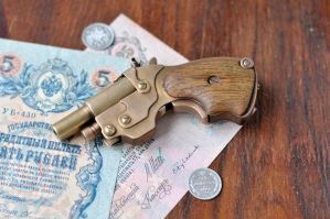 Steampunk pocket pistol by DenBow