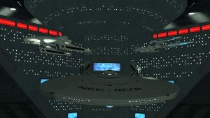 USS Christine Hoagland in spacedock by starshipdriver