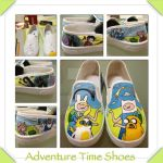 My adventure time shoes by FlamePrincessLover10