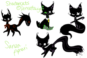 Shadowkitties by Sanza-tan