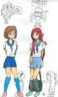 Anime Girls by twinklytoes-bunny