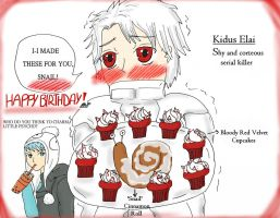 Happy birthday SnaiLords-Serial killer cupcakes... by IllyDragonfly