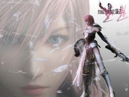 FF13-2 Lightning Wallpaper by cdh1994