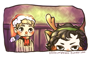 Johnlock christmas by cannorachan