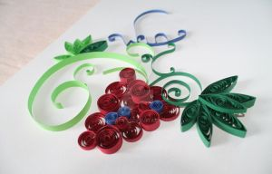 Quilling Weintraube by dichan85