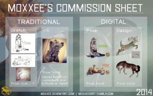Commission Sheet - $$ and pts. accepted! - OPEN by moxxee