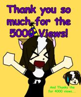THANK YOU FOR 5000 VIEWS by Bottled-Love