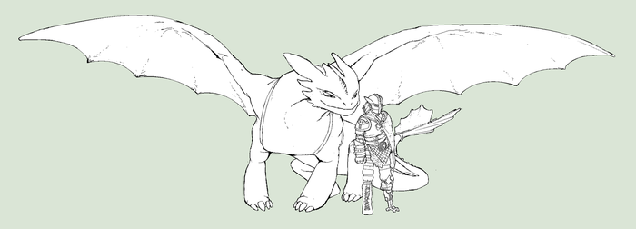 Toothless and Hiccup by unusable