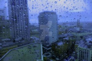 City in the Blue Rain by darthbriboy