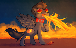 pony on fire by cappydarn