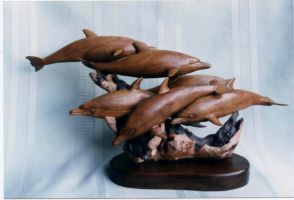 Walnut Dolphins by AllenNecchi
