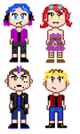 My First Pixel Characters by EBelacqua