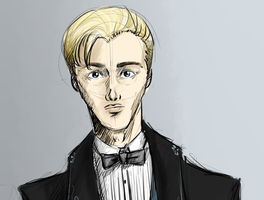 Draco Malfoy - in formal robe - detail 1 by NereaM