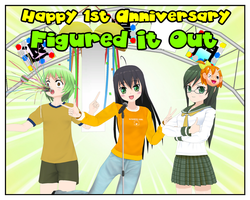 Happy 1st Anniversary Figured It Out by Dragoshi1
