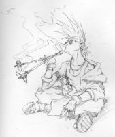 The Smoker by Inkthinker