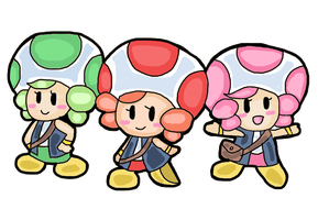 the 3 toad sisters by Goombarina