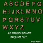 SUB SANDWICH UPPER CASE ALPHA by AngelMoon17