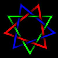 tricolor triangles by Invader-Tech