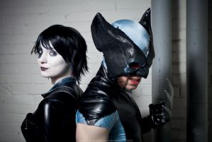 Wolverine and Domino by TheAwesomeSpin