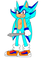 Chris Sonic X Style :WIP: by scifiEnchantress