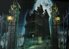 Spooky Haunted Background by mysticmorning