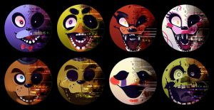 Five Nights at Freddy's Buttons by mmishee