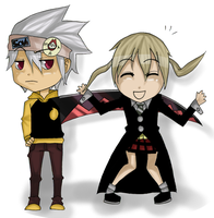 Chibi Soul and Maka by The-Last-Blaze