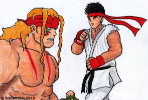 SFIII - Alex and Ryu by Rocket-Stevo