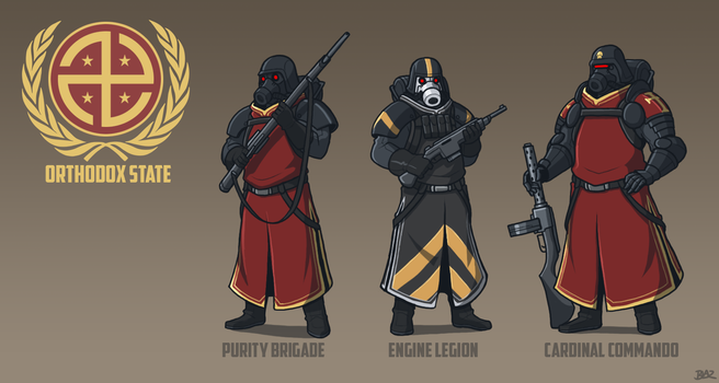 Orthodox Soldiers by Blazbaros