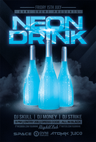 Neon Drink Flyer Template by OVNI-TEMPLATES