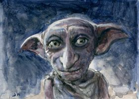 Dobby Harry Potter Sketch Card by Stungeon