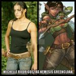Michelle Rodriguez as Nemesis Greencloak by StalinDC