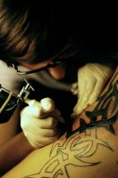 tattooin' his soul. by cherrysuicide