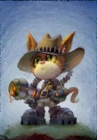 Puss in Steampunk Boots by matthewart