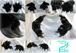 Black Realistic Dragon Fursuit Hands (2015) by Eternalskyy