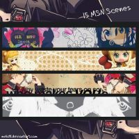 15 Anime scenes by melo91