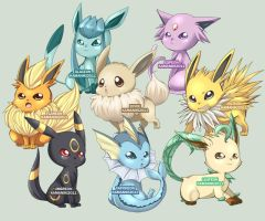 PKMN: Eeveelution by Kamaniki