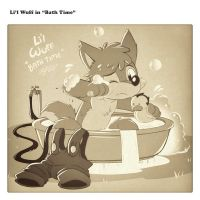 Li'l Wuff in Bath Time by PitiYindee