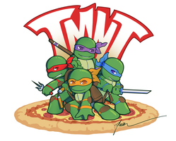 Teenage Mutant Ninja Chibi's by PenguinAttackStudios
