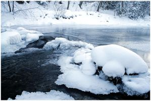 frozen river by c0mplixcated