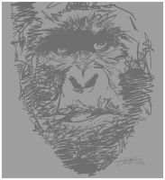 a gorilla rough in 3 minutes by todmanhero