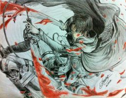 Bloody Rivaille by greataiden1