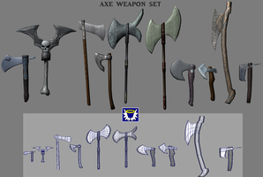 Weapons Pack 2 - Axes by BlueSerenity