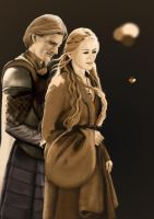 Cersei and Jaime Lannister 3 - WIP by withanh