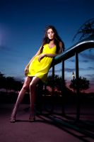 The yellow dress by JJImages