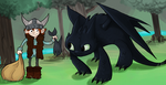 Hiccup and Toothless by SuperKusoKao